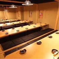 大型宴会もOKの完全個室