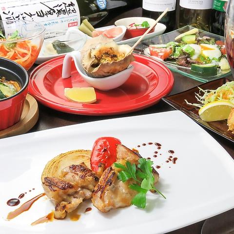 瀬戸内鮮魚を取り入れた和料理を基本に、牛タンカツレツなど個性を高めた料理を約50種