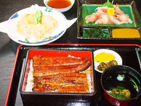 印旛沼漁協で養殖した新鮮うなぎを使用。ボリュームたっぷりで大満足レストラン!