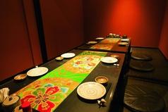 全席【完全個室】×【掘りごたつ】10名様まで可能な完全個室。会社の宴会などでご利用ください!