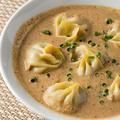 料理メニュー写真スープモモ/揚げモモ/ほうれん草とチーズのモモ