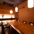 12名様まで完全個室!!こちらはテーブル席