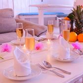 可愛くテーブルをセッティングして女子会はいかがですか?スパークリング&ワインのついた飲み放題は2h1000円♪