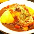 料理メニュー写真じっくり煮込んだビーフシチューのオムライス