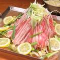 2500円学生宴会コースのオススメメインちりとり鍋です!!レモンと塩ダレがマッチして美味しさが引き立ちます!