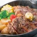 料理メニュー写真特製USリブロースのハーフポンドステーキ【225g】