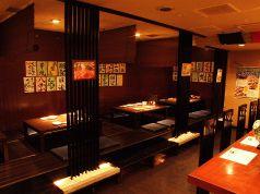 6名席が2テーブル、4名席が2テーブル、最大で24~26名様までのご宴会が可能な掘りごたつ席です。
