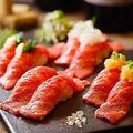 料理メニュー写真話題!とろける国産牛肉寿司