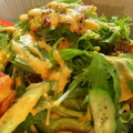 料理メニュー写真グリーンサラダ 一家オリジナルドレッシング