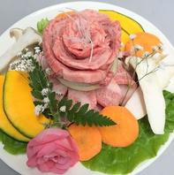 誕生日・記念日【肉&野菜&花のケーキ】サプライズ♪