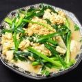 料理メニュー写真ニラ玉豆腐