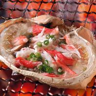 当店自慢の絶品料理「蟹味噌甲羅焼き」
