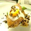 料理メニュー写真【コース一例】ホロホロ鶏のロースト 黒トリュフ風味