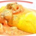 料理メニュー写真海の幸のトマトクリームソースオムライス