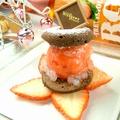 料理メニュー写真【コース一例】朝摘み苺のババロアと超軽~い練乳のエスプーマ