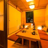 扉付きの個室席なので、プライベートなご宴会にも安心してご利用いただけます。合コンや飲み会にもぜひ。