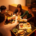 【オトナ女子会】ゆっくりとおしゃべりが楽しめて、オトナ女子会にも大人気!!カラフルで美味しいお料理とドリンクに心もお腹も大満足!昼女子会プランもご用意しています!