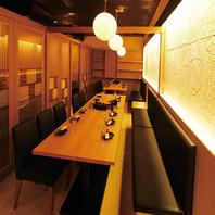 20名様迄着席可能なテーブル個室.