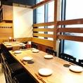明るく開放的な店内では大人数でのご宴会や飲み会、50~60名様までの貸切を承っております。会社でのご宴会や同窓会、気の知れたご友人との飲み会などに最適です。京都駅方面でご宴会などをお考えなら是非当店をご利用下さい。お待ちしております。