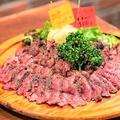料理メニュー写真黒毛和牛熟成肉のタリアータ (部位ごとにお選びいただけます)