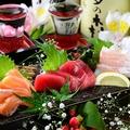 料理メニュー写真旬魚のお刺身三種盛り