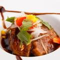 料理メニュー写真バルサミコ酢仕立ての黒酢豚