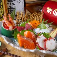 一番人気!朝獲れ鮮魚のお造りは絶品すぎる!!