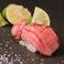 牛たん元の肉寿司(生・炙り)