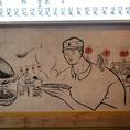餃子マニアといえば、この壁に書かれたゆるい絵。クセになります。