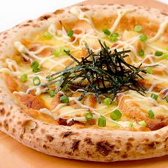 料理メニュー写真照り焼きチキンピッツァ