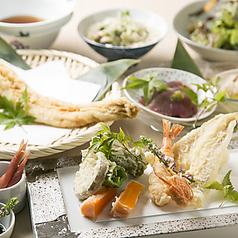 江坂海鮮天ぷら おーうえすとのコース写真