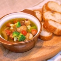 料理メニュー写真ホタテ・マッシュルーム・ソーセージ・チョリソー・ブロッコリーのMIXアヒージョ