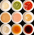 つけだれは手作りの特製ダレをご用意。つゆ出汁とはまた味わいを変えてお楽しみください。お好みの味がきっと見つかるはず!