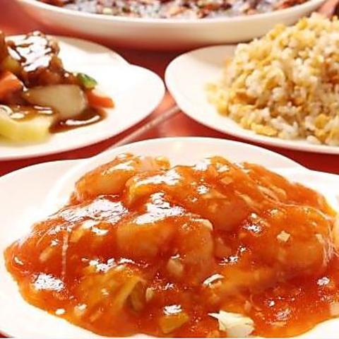 【お料理のみ】お得コース 麻婆豆腐、エビチリなどを含む 全10品