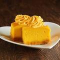料理メニュー写真燻製かぼちゃのチーズケーキ