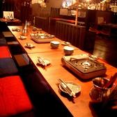4×4のテーブルを使い16名様の宴会も可