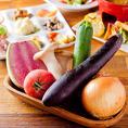 産地直送の野菜が旨い!!☆新鮮野菜には自信あり◎ 生のとうもろこしや珍しい色の大根など、新しい野菜に出合えることも当店の魅力♪