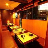 窮屈感の無いテーブル席は上野の夜景と共にご寛ぎいただけます!煌びやかに輝くネオンをアテに美味しい食事と銘酒の数々をお楽しみくださいませ。お客様のシーンに合わせたぴったりの個室をご用意させていただきますね♪(上野 個室 居酒屋 地鶏 鍋 食べ放題 飲み放題 宴会 女子会 誕生日 記念日)