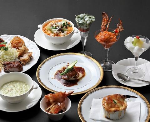 シェフのおすすめコース 四川風の中華を基本に曽明星オーナーシェフの創作料理