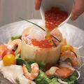 料理メニュー写真絆の海鮮らーめんサラダ