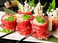 料理メニュー写真牛すき焼串