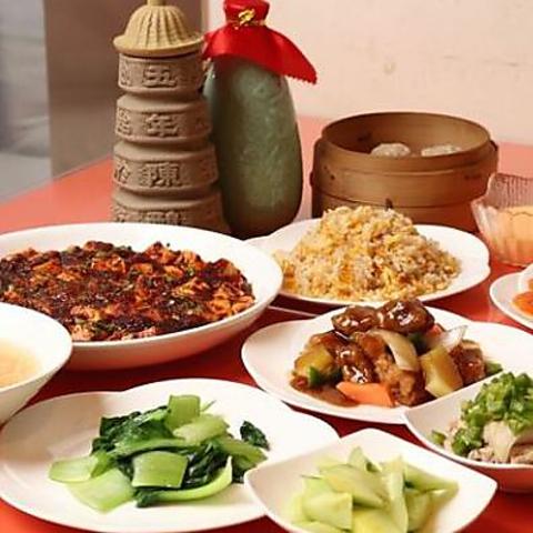 【お料理のみ】季節の宴会コース 麻婆豆腐、エビマヨ、よだれ鶏などを含む 全10品