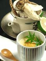 今月のおすすめは…「雲丹の茶わん蒸し」