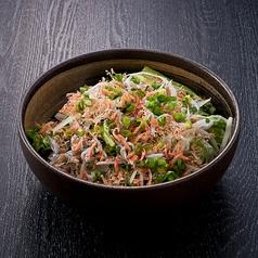 料理メニュー写真干し海老としらすのグリーンサラダ
