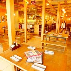 テーブル席Aパターン!卓上の七輪焼きを楽しむ為のお席です。
