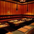 2階★使いやすい半個室空間!名古屋に来たら『ひつまぶしを』食べなきゃ始まらない!ひつまぶしが食べられるコースでご宴会はいかがですか!?もちろん飲み放題付で充実のコース内容です♪名古屋名物以外に、刺身などの海鮮もあるのがおすすめポイント。きっとお客様の「食べたい!」があります!