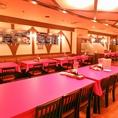 ゆったり広々としたスペースは20名様~最大52名様まで貸切可能◎結婚式の二次会/打ち上げ/懇親会など、各種パーティーにおすすめ♪テーブル席/ソファー席をご用意しております。