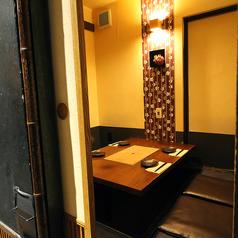 2~4名様までの掘りごたつ個室。少人数の飲み会や、デートの場としても最適なお席。大切な人との距離を縮めるのにはピッタリです