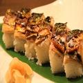 料理メニュー写真焼きサバの押し寿司