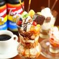 デザート各種取り揃えています♪女子会などカフェ利用の方にオススメ♪季節限定デザートもありますよ♪ケーキとコーヒーのセットもオススメ♪